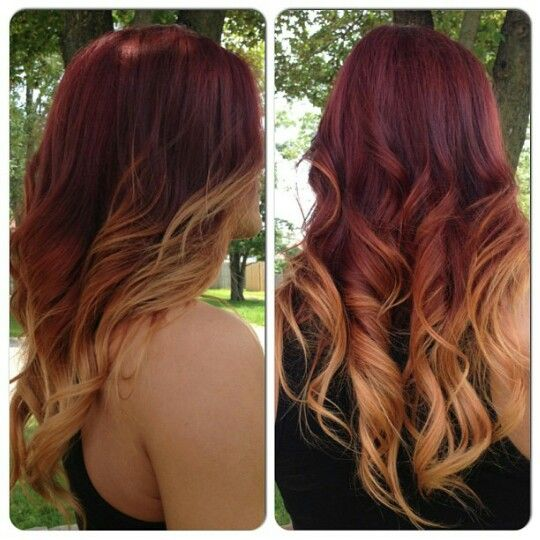 red to blonde ombre red to blonde and blonde ombre on