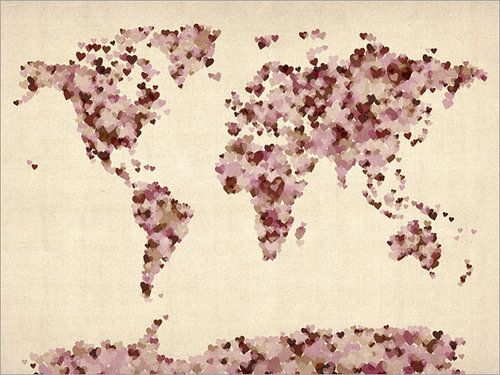 Wanderlust is right...need a map like this to start pinning our next trips and our dream spots! Love it!!