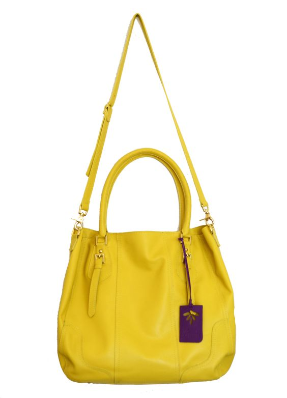Silver Yellow de MAXENTA 100% leather made in MEXICO  www.maxentamexico.com