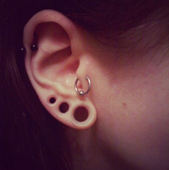 clear stretcher thingies! now THAT is awesome :3