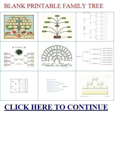 Blank Printable Family Tree Pinteres