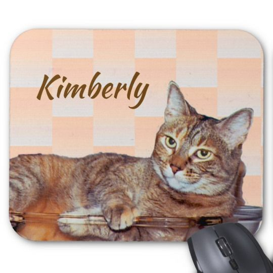 Orange And Brown Tabby Cat Pattern Mousepad Cat Pattern Cats