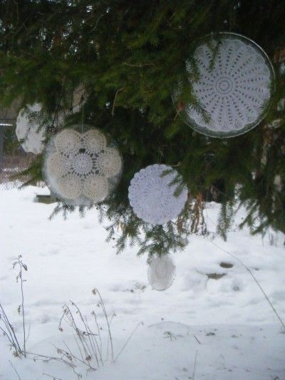 Ice Ornaments- Making these this winter for Valentines Day to hang in the tree with red and pink hearts