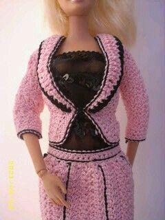 Vestidinho de croche para Barbie