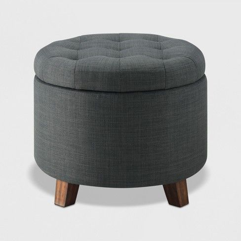 Tufted Round Storage Ottoman Charcoal Threshold Target Round Storage Ottoman Small Storage Ottoman Ottoman