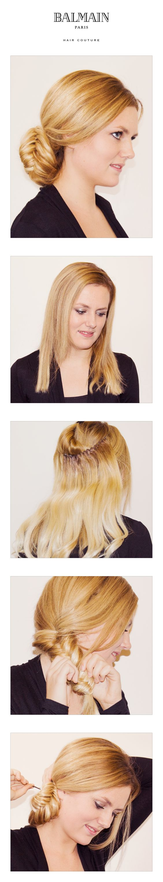 Use the Balmain Hairdress to create more volume and make some sweet updo's.