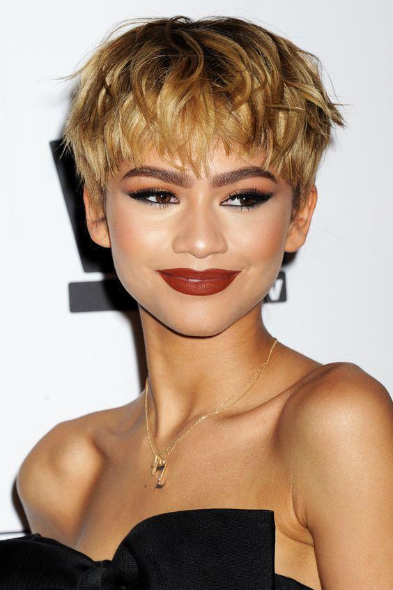... hairstyles short hairstyles celebrity short zendaya hair short zendaya