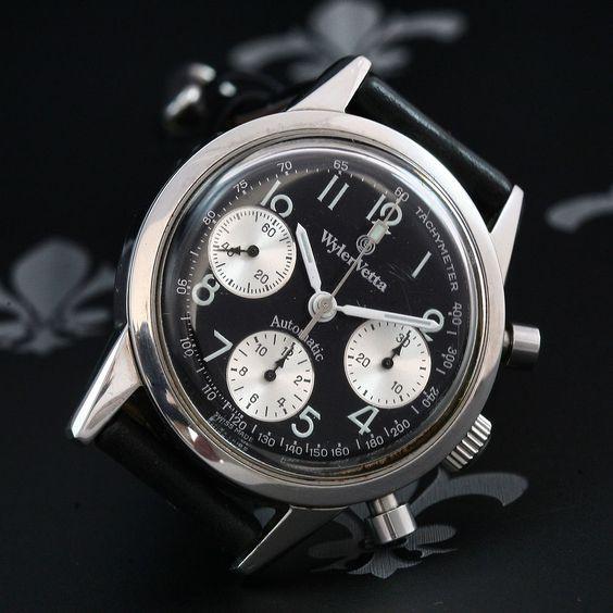 WYLER-VETTA Ref. E3347W Auto Chronograph Watch ETA Cal. 2892-A2 with Dubois Depraz Chronograph Module