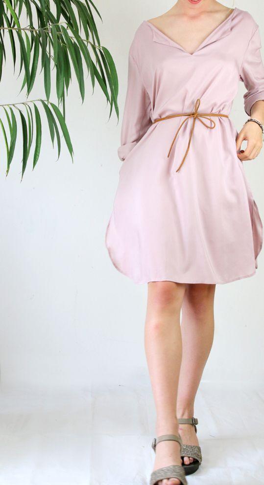 Rosa Sommerkleid Oder Lange Tunika In Altrosa Anfertigung In Munchen Modelabel Ma Eins Modestil Mode Sommerkleid