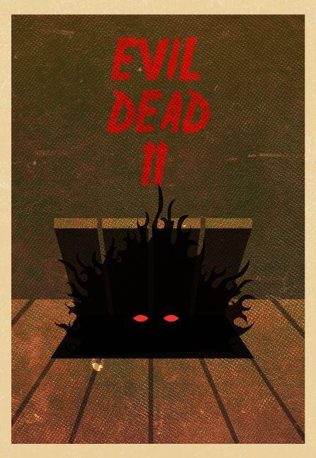 Evil Dead II - Minimalist movie poster design | By: Tim Staszak of Block Club Creative