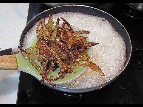 سر عمل البصل المحمر المقرمش Crispy Fried Onions Youtube