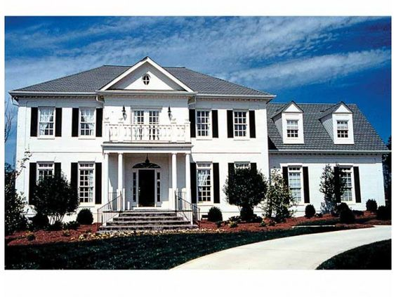 Stately Colonial House Plans House Design Ideas