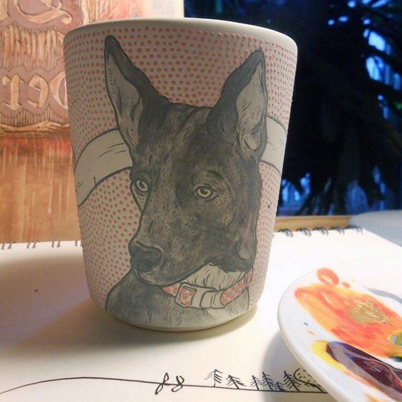 personalisierte handbemalte porzellan tasse / hochzeits-tassen, Gartenarbeit ideen