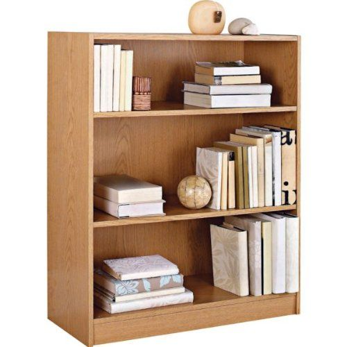 Essentialz Maine Small Extra Deep Bookcase Oak Effect With Microfibre Hsb Cleaning Glove Deep Bookcase Small Bookcase Wide Bookcase