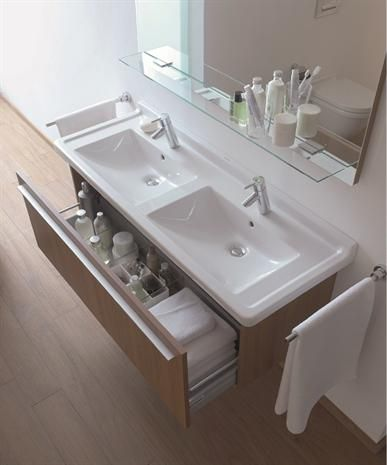 duravit starck 3 double furniture washbasin 1300 x 485mm. Black Bedroom Furniture Sets. Home Design Ideas
