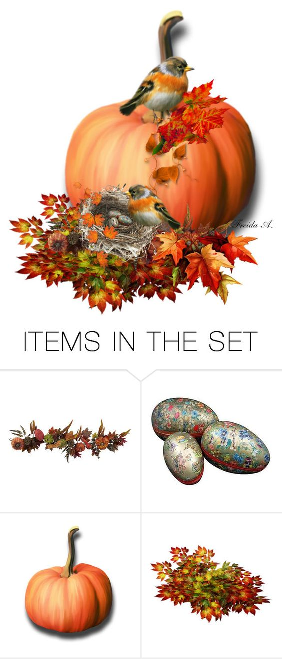 """Their Nest, Pumpkin Art"" by freida-adams ❤ liked on Polyvore featuring art"