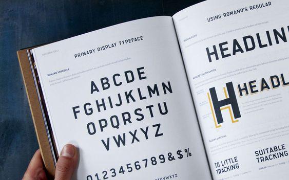 Romano's Macaroni Grill by Super Big Creative. Romano's Regular #typography