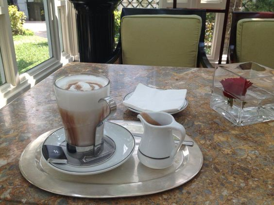 Short brake with lovely French style coffee at metropole legend hotel, Hanoi
