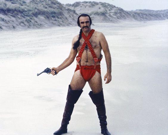 Sean Connery in a red tankini in 1974 film 'Zardoz'