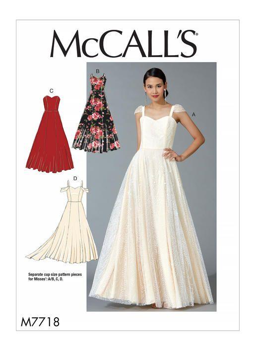 M7718 Mccall S Patterns Sewing Patterns Prom Dress Pattern Prom Dress Sewing Patterns Dresses