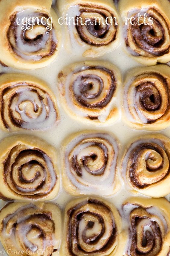 Perfect for Christmas morning breakfast! These eggnog cinnamon rolls have eggnog in the dough and the frosting!