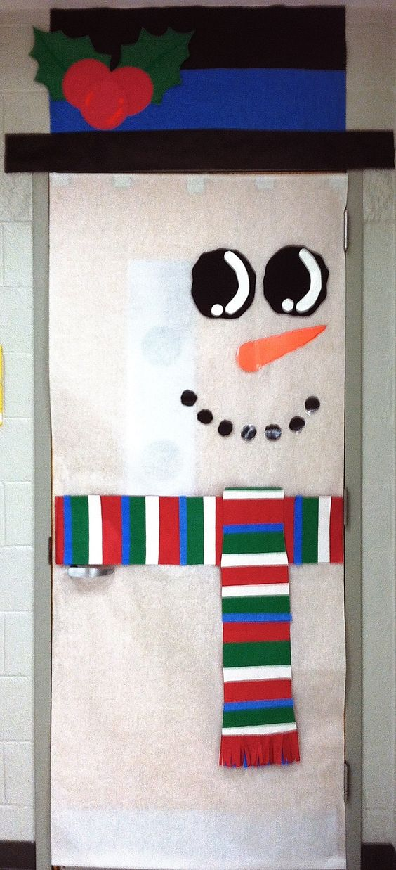 Classroom winter holiday door classroom winter door Class door winter decorations