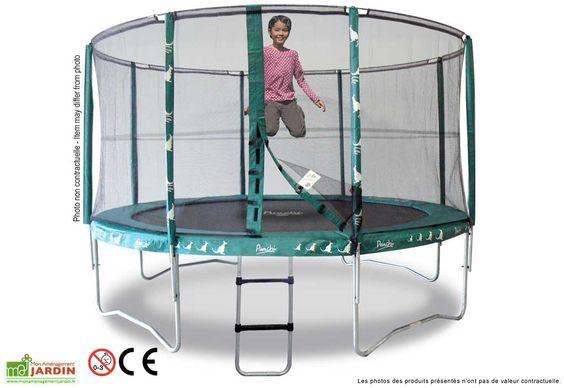 trampoline punchi 360 bleu atoll echelle trampolines. Black Bedroom Furniture Sets. Home Design Ideas