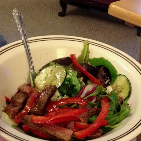 ... pan-seared steak. Served with balsamic vinaigrette. | Pinterest