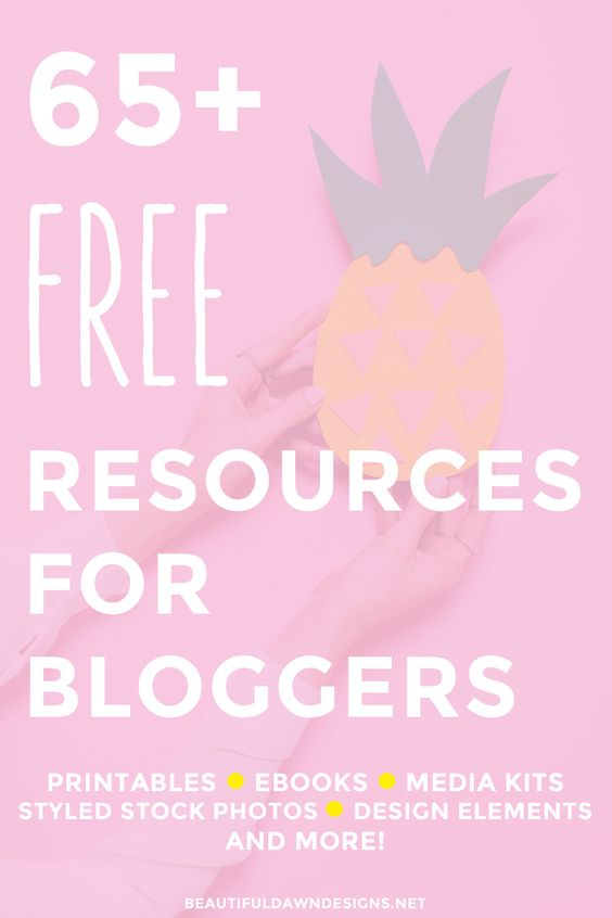 Over 65 free resources for bloggers. This list includes free ebooks, free printables, free WordPress themes, free styled stock photography and more!