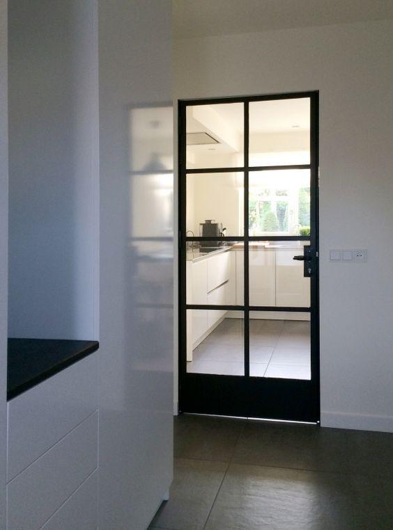 Industrieel deur zwart staal home > portfolio > Particulieren ...