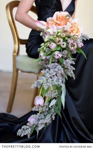 Gorgeous hanging bouquet| Photographer: Catherine Mac, Flowers: Fleur le Cordeur, Dress: Kobus Dippenaar