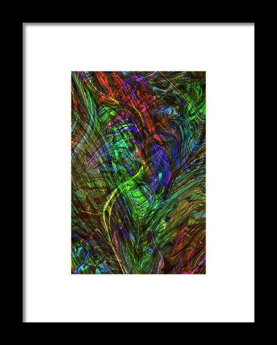 Creative Chaos Framed Print By Elva Robinson
