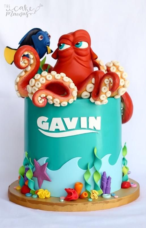 Amazing Finding Nemo Birthday Cake The Cake Mamas Piece Of Cake In Personalised Birthday Cards Cominlily Jamesorg