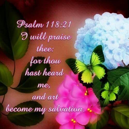 Psalm 118:21 KJV