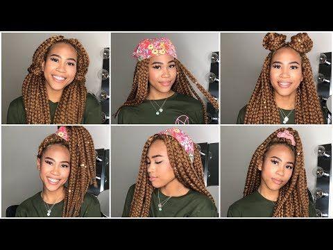 Easy Head Wrap Individual Crochet Braids Hairstyles Senegalese