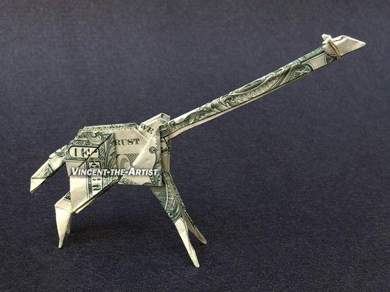 money origami giraffes and origami on pinterest