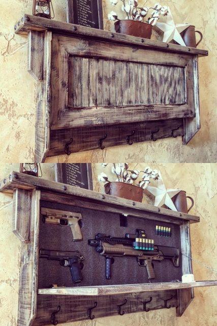Deluxe Home Defense Coat Rack Rustic Furniture Decor Rustic