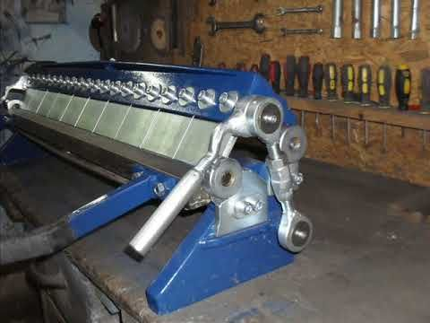 Sheet Metal Bender Brake Youtube Sheet Metal Bender Metal Bender Sheet Metal