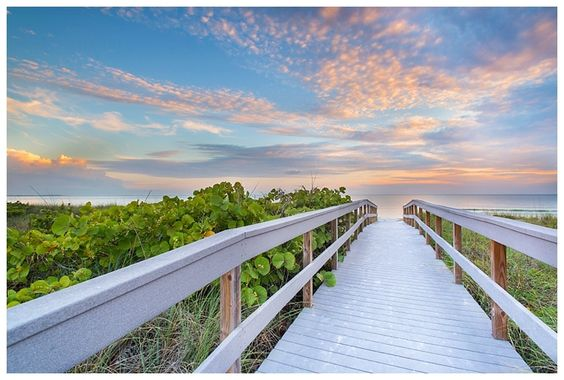 The Walk to Sunset Beach - Treasure Island Florida Landscape ...