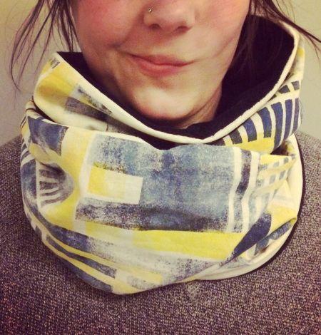 Ørbån Loopschal  handmade print loop scarf DIY