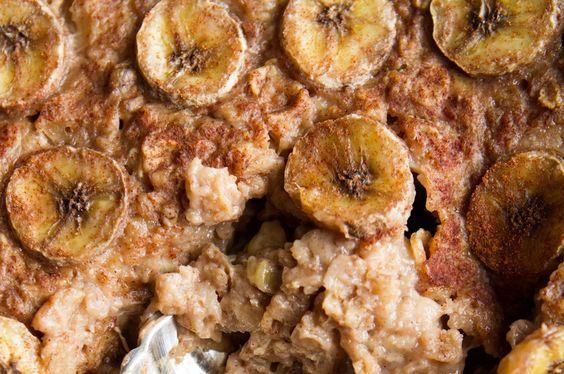 banana foster baked oatmeal 1727 thumb1   Vegan Bananas Foster Baked Oatmeal