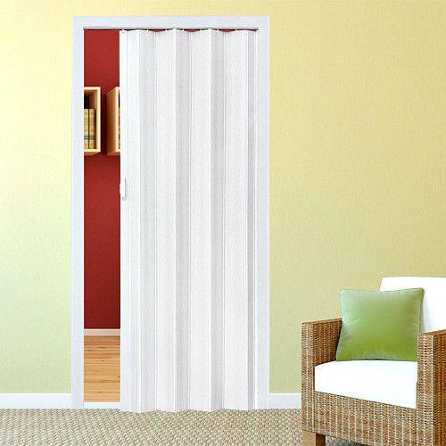 Double Skin Oak Pine Folding Door PVC Internal Sliding Panel Bi Divider Indoor