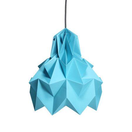 Luminária Pendente Hope – Turquesa - Dobrarte Origami