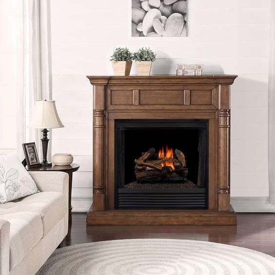Duluth Forge 24 In 45 000 Btu Vented Natural Gas Fireplace Log