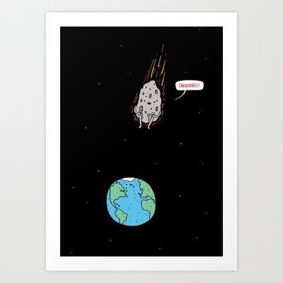 Cannonball! Art Print by Jaco Haasbroek - $19.00
