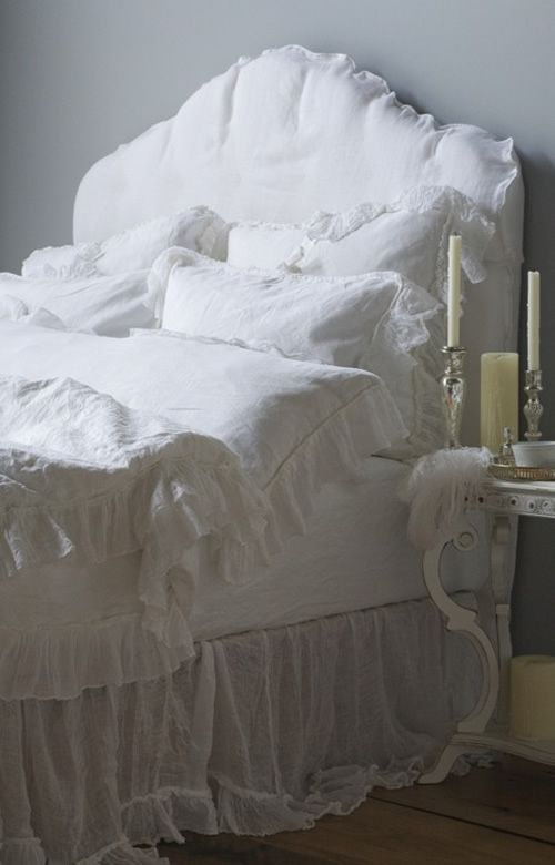 """""""Whisper Linen White Bedding"""" from Bella Notte gorgeous textures at Cottage Chic Store ~~~"""