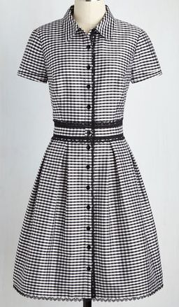 Loving this gingham check shirt dress
