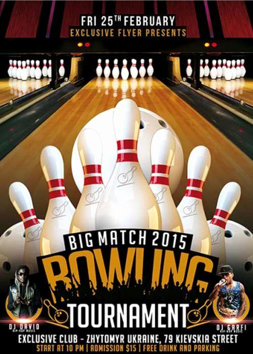 Bowling League Poster Bowling League Bowling Fun Fundraisers