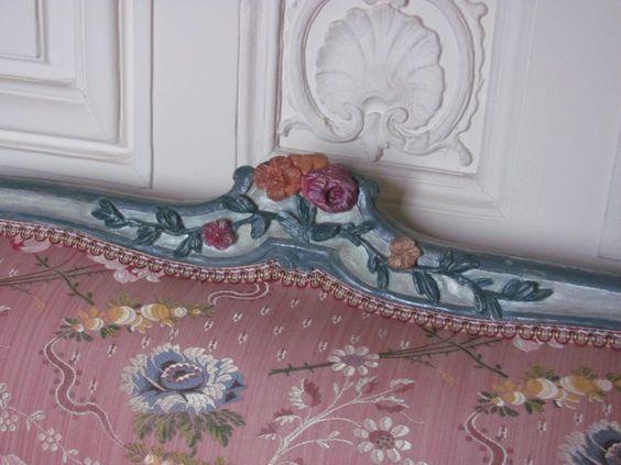 Détail d'un meuble de l'appartement de Madame Pompadour