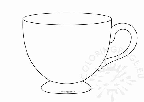 32 Tea Cup Coloring Page In 2020 Teacup Tattoo Coloring Pages